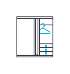wardrobe closet linear icon concept wardrobe vector image
