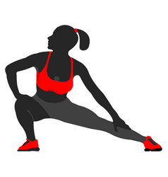 woman fit pose logo and icon sport silhouette vector image