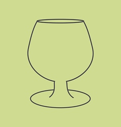 Brandy Cognac Glass vector image vector image