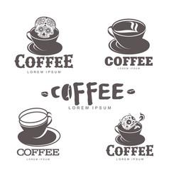 coffee logo templates vector image vector image