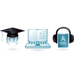 digital learning vector image