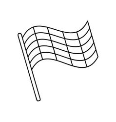 Flag line icon vector image