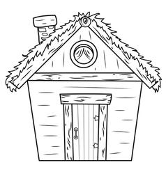 hut vector image