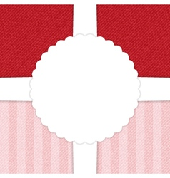 Jeans red and light pink greeting card vector image vector image