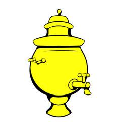 samovar icon cartoon vector image
