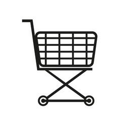 shopping cart sign black vector image