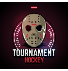 Sports logos for hockey vector image vector image
