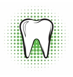 Tooth comics icon vector image