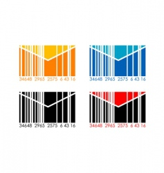 barcode letters vector image