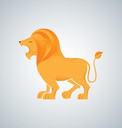 Lion king logo design vector image vector image