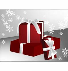 three gifts vector image vector image