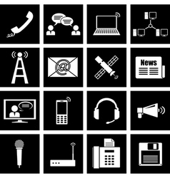 communication icon vector image vector image