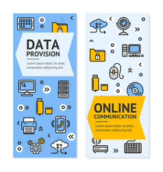 computer online communication flyer banner posters vector image vector image