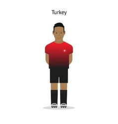 Football kit Turkey vector image vector image