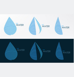logo water line three style vector image vector image