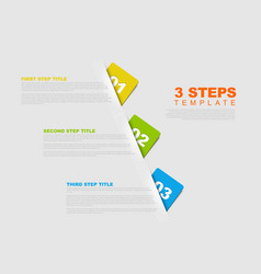 one two three - progress template vector image vector image