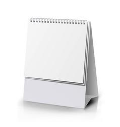 paper calendar blank vertical realistic standing vector image