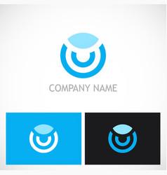 round line technology logo vector image