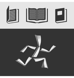 Set of symbols Book vector image vector image