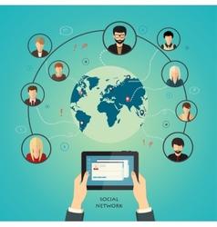 Social media network concept vector image vector image