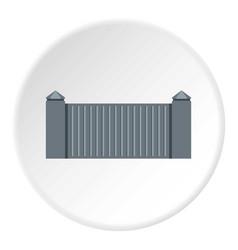 Stone fence icon circle vector