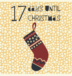 17 days until christmas vector