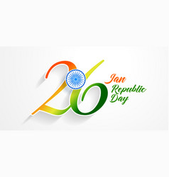 26th january republic day of india background vector
