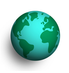 3d earth planet globe on isolated background vector image