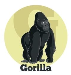 ABC Cartoon Gorilla vector