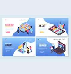Account balance banners collection vector