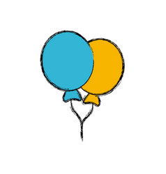 balloons celebration isolated vector image