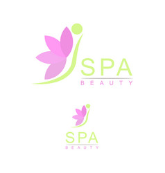 beauty and spa logo vector image