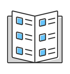 Business catalog reference book color icon vector