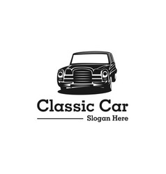 car classic auto transport branding logo vector image