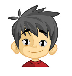 Cartoon funny boy head vector