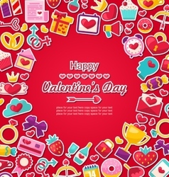 Celebration Postcard for Valentine Day vector image
