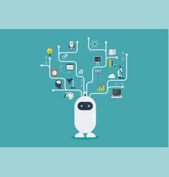 Chatbot robot virtual infographic vector