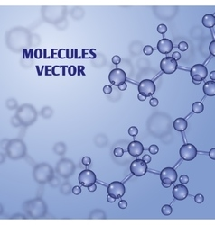 Chemical nanotechnology background with 3d vector image