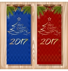 Christmas design set Merry Christmas and Happy vector