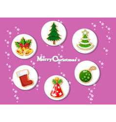 Christmas holiday dresses collection of icons 9 vector