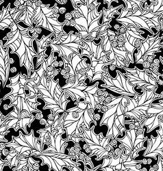 Christmas mistletoe seamless pattern vector image