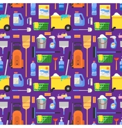 Cleaning icons set background vector image