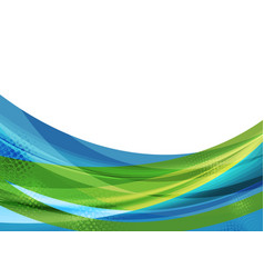 Colorful abstract waves background vector
