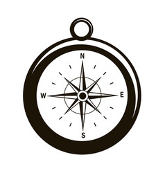 compass with north star to navigate direction vector image
