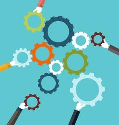 Concept teamwork and integration vector