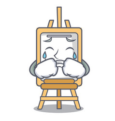 Crying easel mascot cartoon style vector