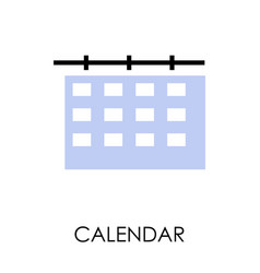 delivery term or shipping dates calendar isolated vector image