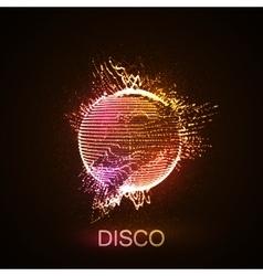 Disco neon sign vector