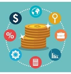 economic growth design vector image