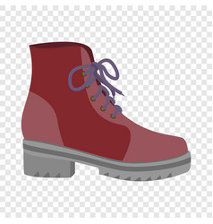 fashion red shoe icon flat style vector image